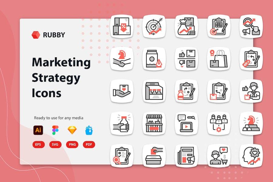 Rubby - Icons für Marketingstrategie