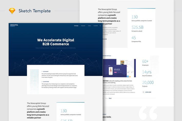 Thumbnail for NewCapital - B2B Commerce Website Landing