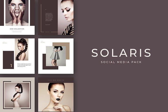 Thumbnail for Pack de médias sociaux Solaris