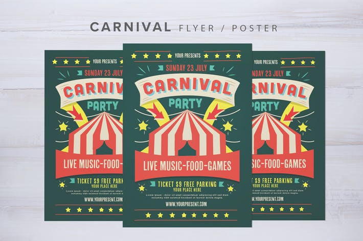 Cover Image For Carnival Flyer