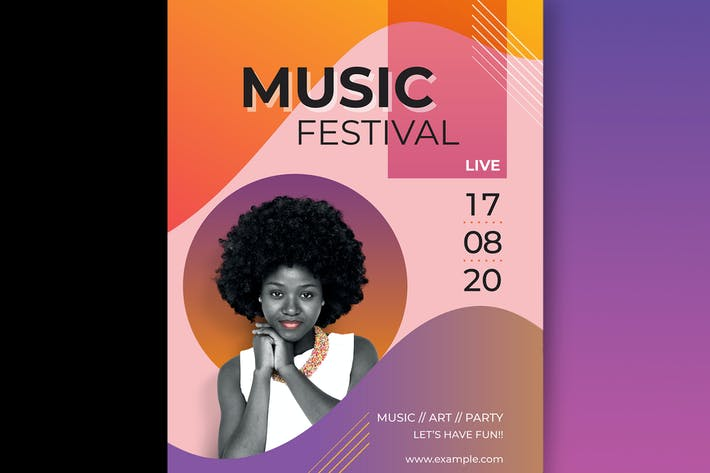 Thumbnail for Vibrant music festival poster vector