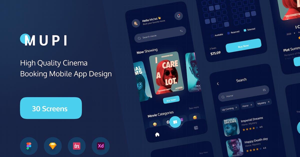 Download MUPI - Cinema Booking Apps UI Kit by noansatudio
