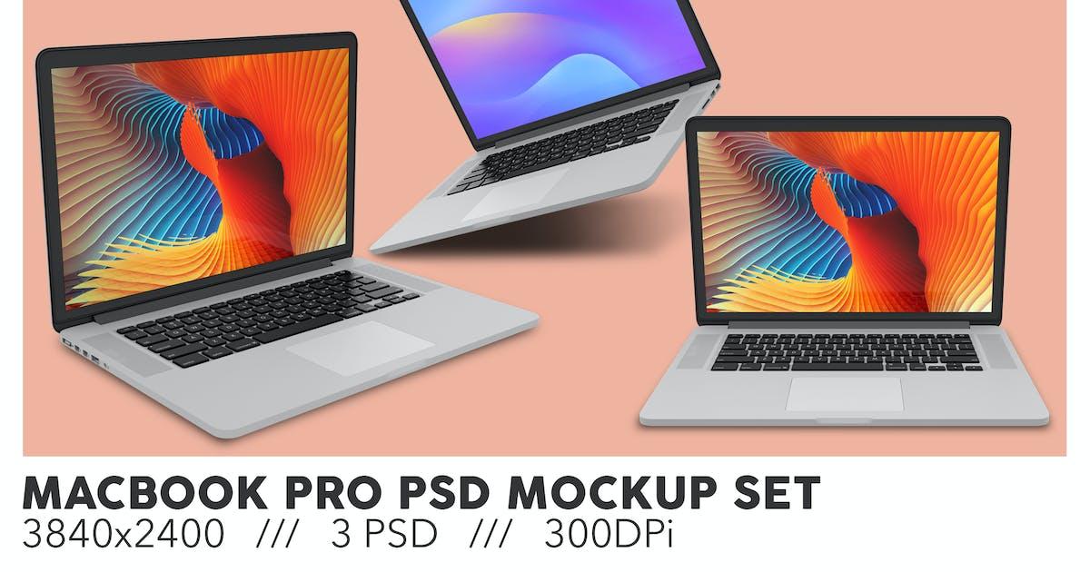 Download Macbook Pro PSD Mockup Set by Sinlatown