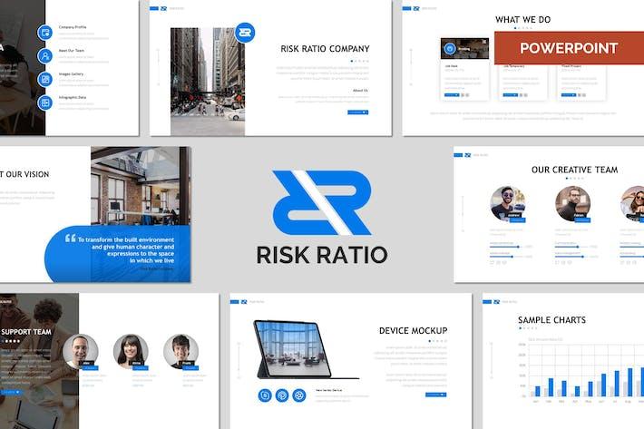 Thumbnail for Коэффициент риска — многоцелевой Шаблон Powerpoint