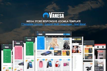 Vanesa | Mega Store Responsivo Plantilla Joomla