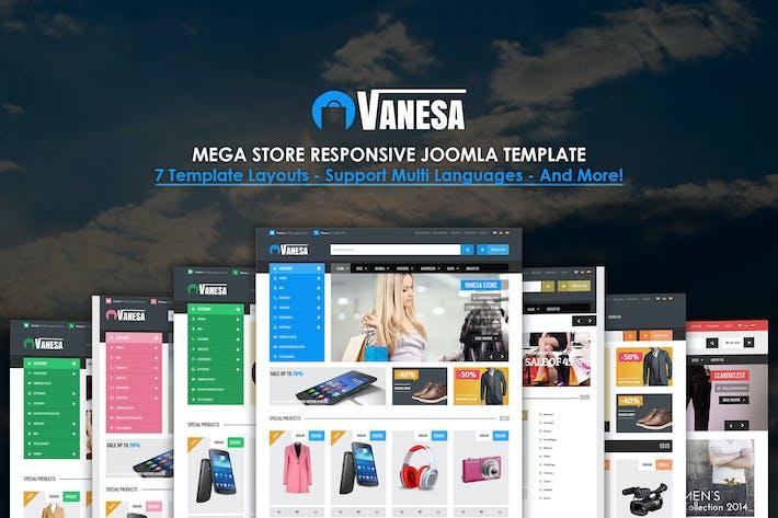 Thumbnail for Vanesa | Mega Store Responsive Joomla Template