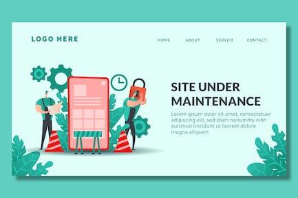 Under Maintenance - Landing Page