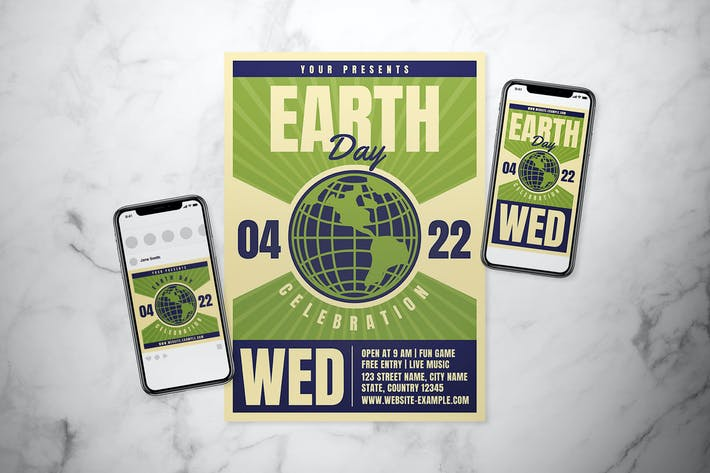Thumbnail for Earth Day Flyer Set