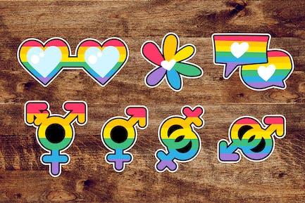 LGBTQI Pride Labels Set