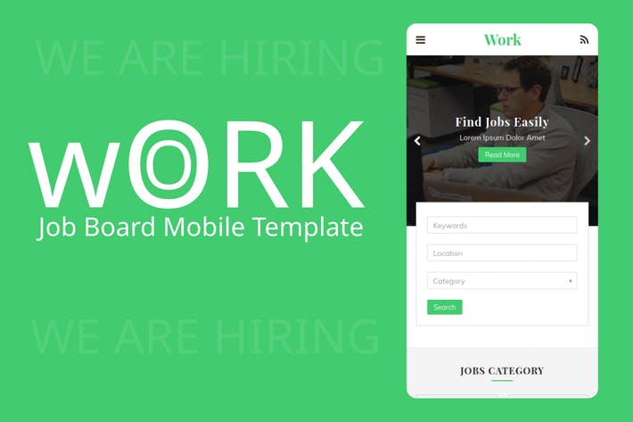 Thumbnail for Work - Job Board Mobile Template