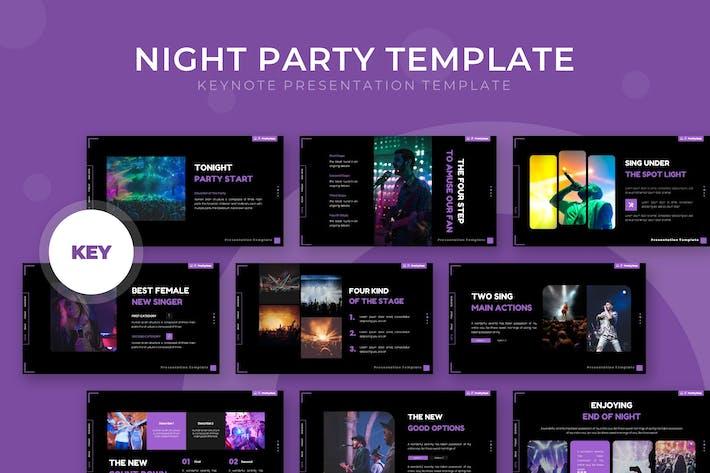 Ночная вечеринка - Шаблон Keynote