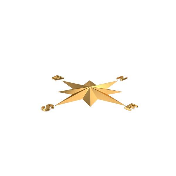 Gold Kompass Rose