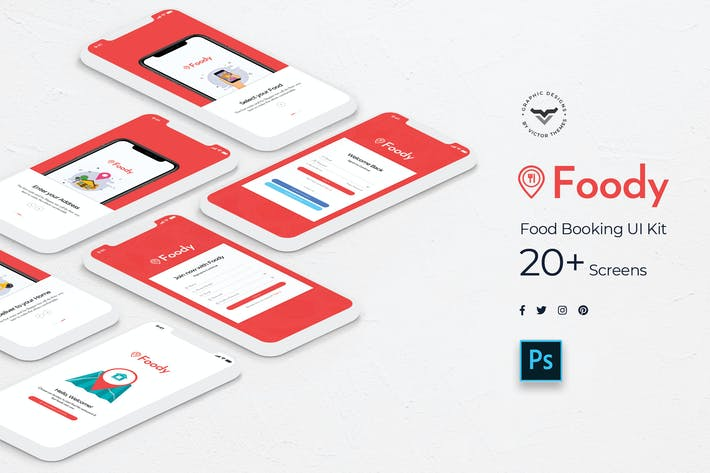 Thumbnail for Foody Mobile App UI Kit
