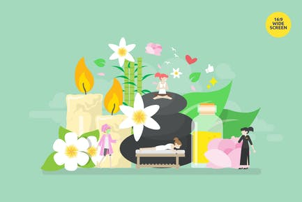 Beauty Spa Relaxation Vector Concept Illustration