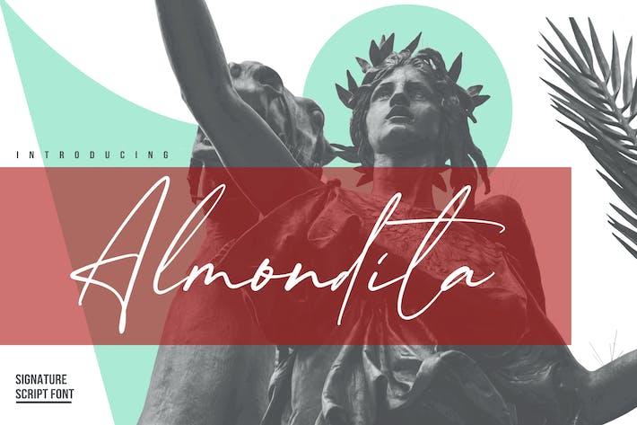Thumbnail for Almondita YH - Signature Font