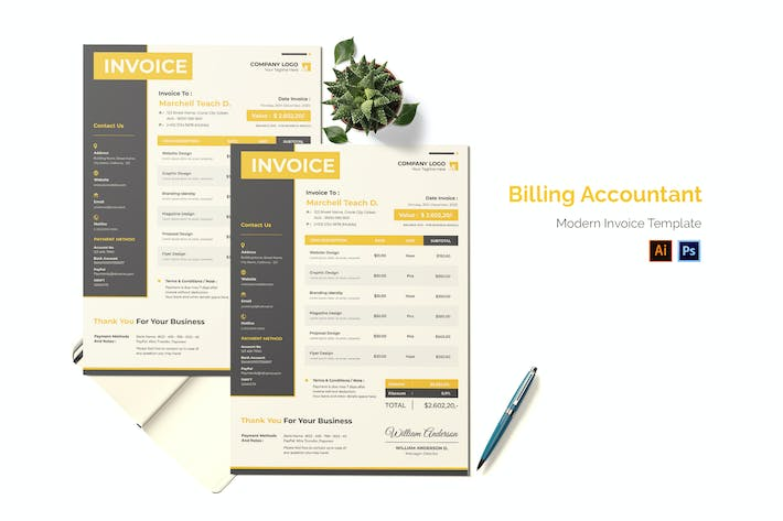 Thumbnail for Billing Accountant Invoice