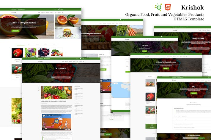 Thumbnail for Krishok - Organic Food HTML5 Template