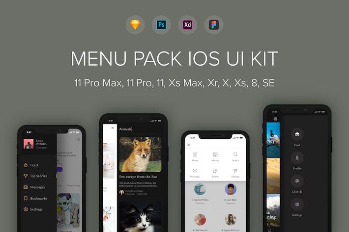 Thumbnail for Menu Pack iOS UI Kit