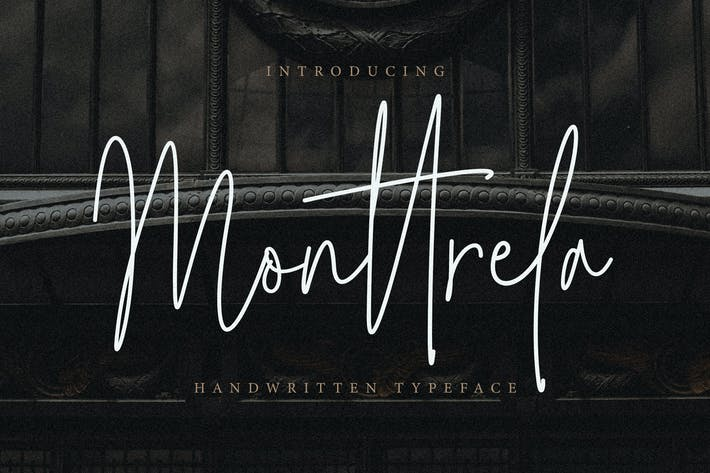 Thumbnail for Monttrela Handwritten Font