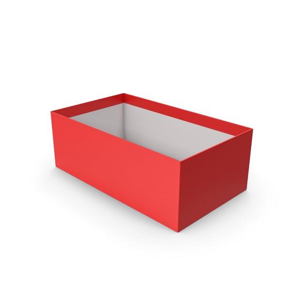 Красная коробка для обуви без крышки
