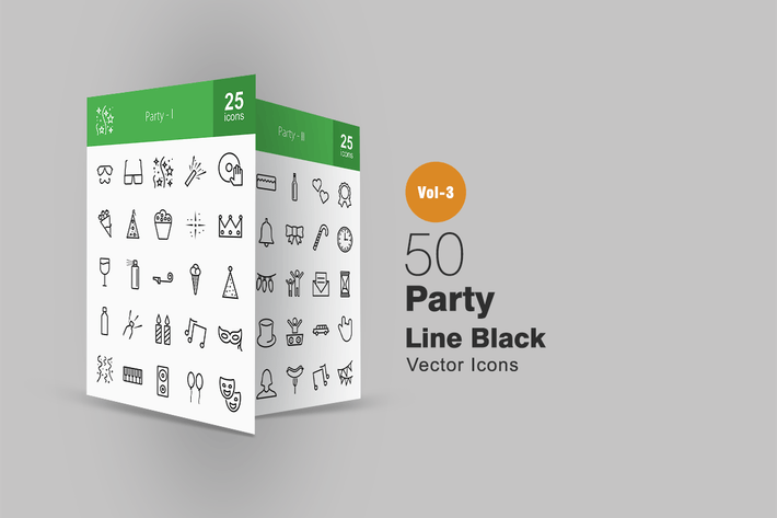 Thumbnail for 50 Party Line Icons