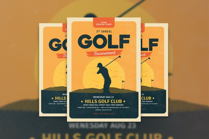 Thumbnail for Folleto Turnament Golf