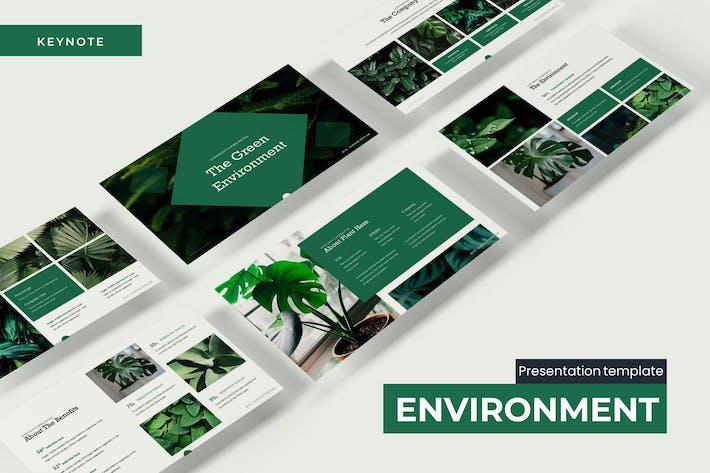 Thumbnail for Зеленая экология Keynote Шаблон