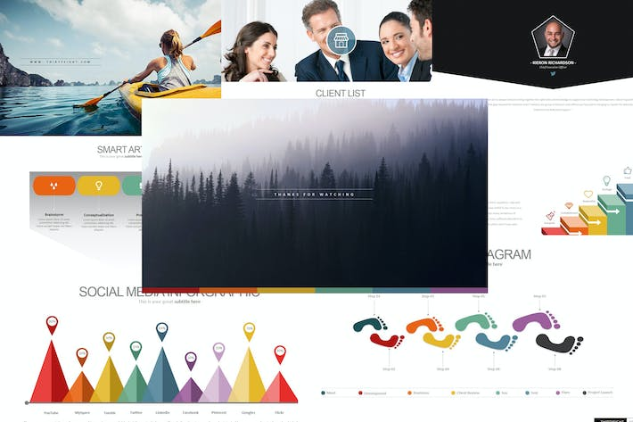 Thumbnail for Three Eight - Powerpoint Template