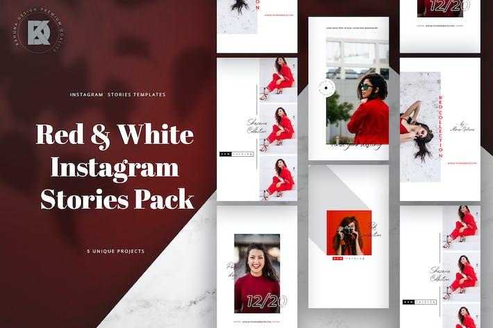 Thumbnail for Red & White Instagram Stories