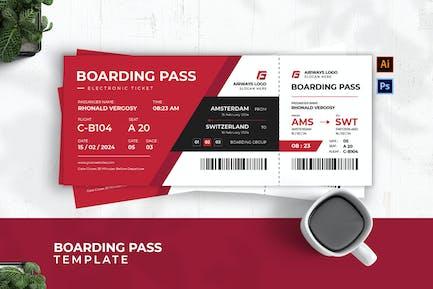 Airways Admit Boarding Pass