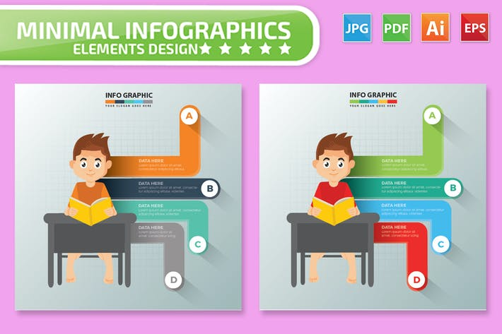 Thumbnail for Learning design infographic Design