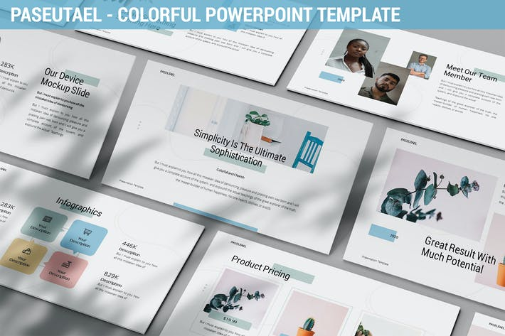 Thumbnail for Paseutael - Colorful Powerpoint Template