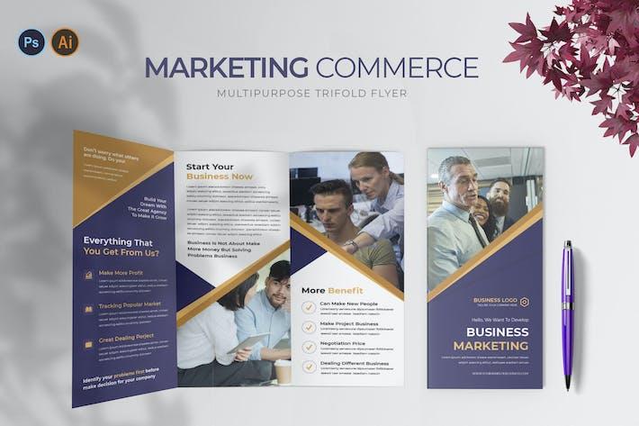 Marketing Commerce – Trifold Brochure