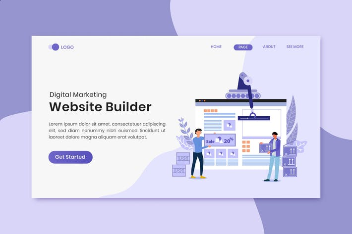 Thumbnail for Website Builder Digital Marketing Landing Page