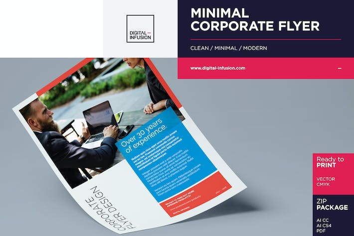 Thumbnail for A5 Minimal Corporate Flyer