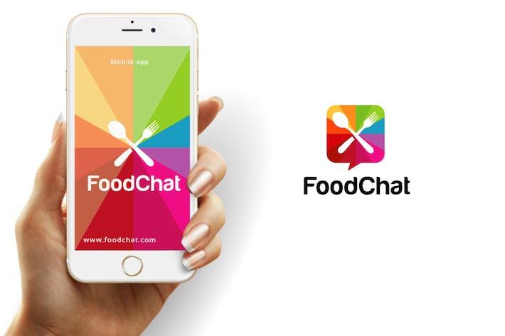 Thumbnail for Шаблон логотипа чата еды