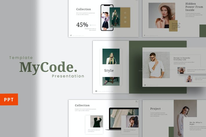 Thumbnail for MyCode -  Fashion Powerpoint Template