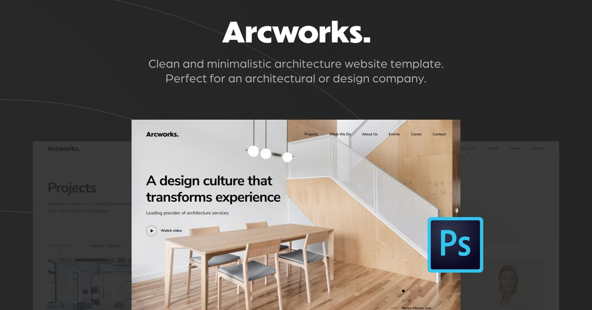 Download Arcworks — Architecture Firm PSD Template by Middltone