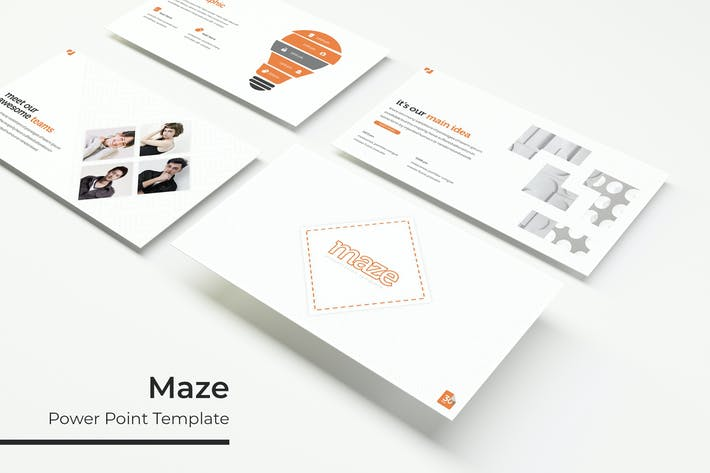 Thumbnail for Maze - Powerpoint Template