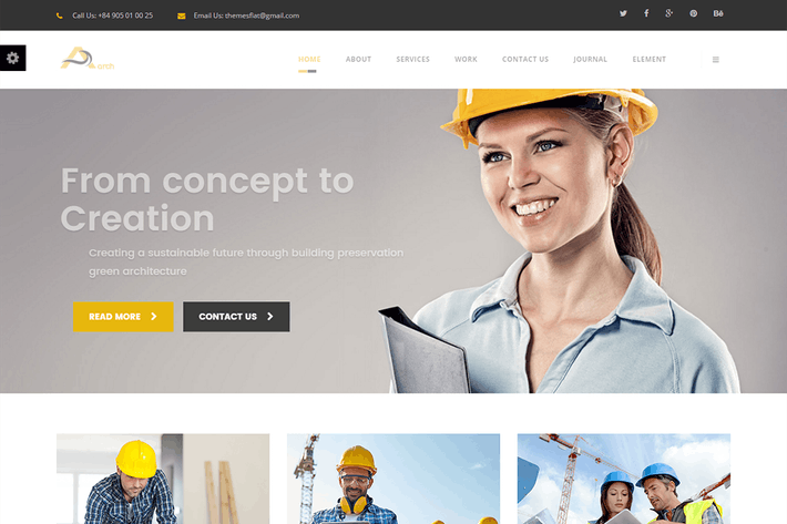 Cover Image For Arch- Construction, Building And Business HTML Tem