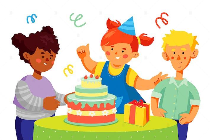 Thumbnail for Birthday celebration - flat design illustration