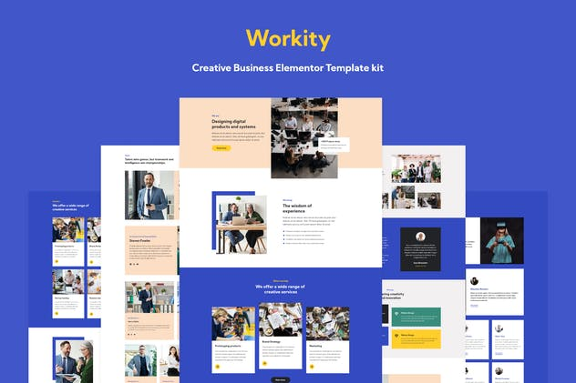 Workity - Creative Adobe XD Template