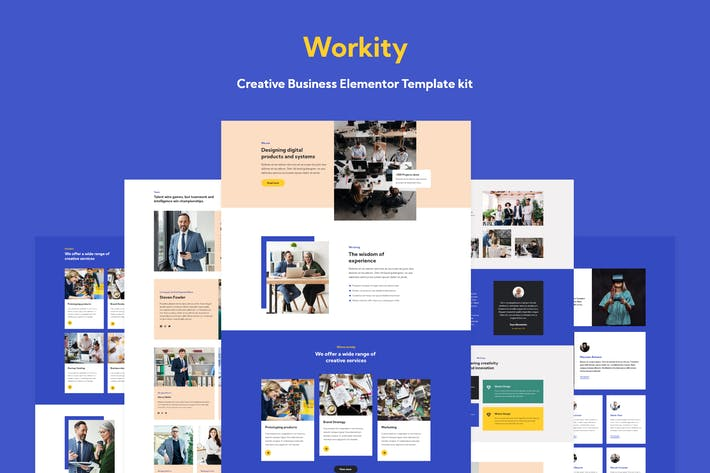 Thumbnail for Workity - Creative Adobe XD Template
