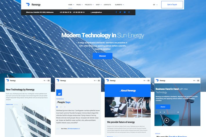 Thumbnail for Renergy - Elementor Business WordPress Theme