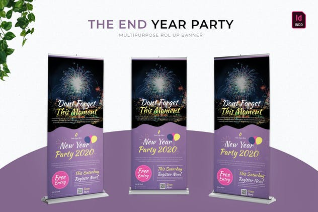 End Year Party | Roll Up Banner