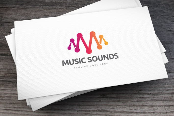 Cover Image For Music Sounds Logo Template