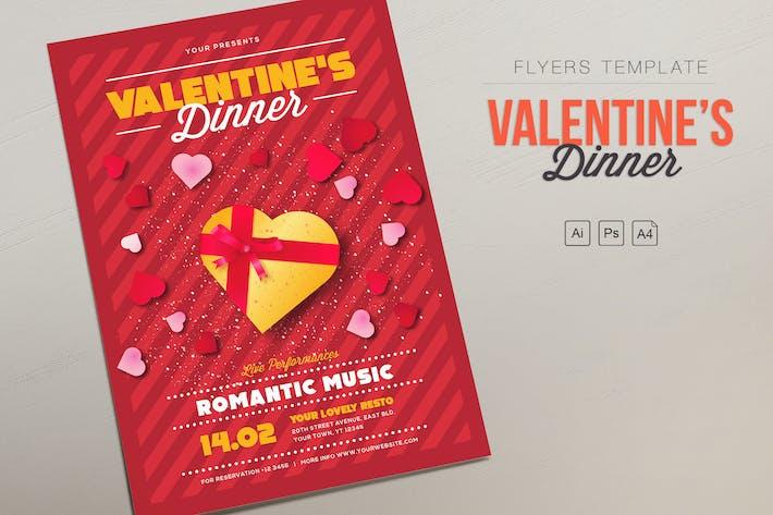 Thumbnail for Valentinstag Dinner Flyer