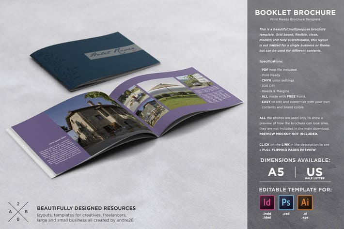Thumbnail for Booklet Brochure Template