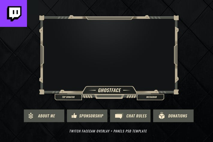 Thumbnail for Twitch Facecam Overlay V8