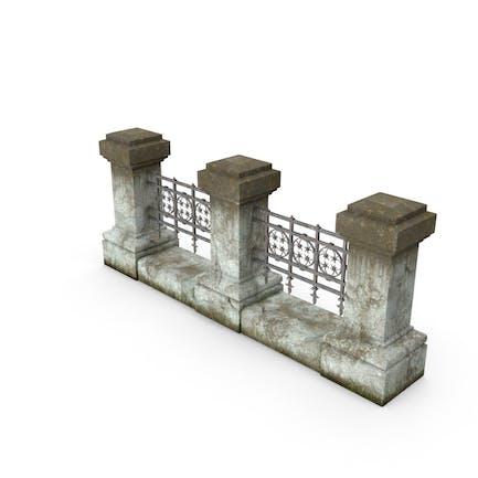 Zaun aus Beton